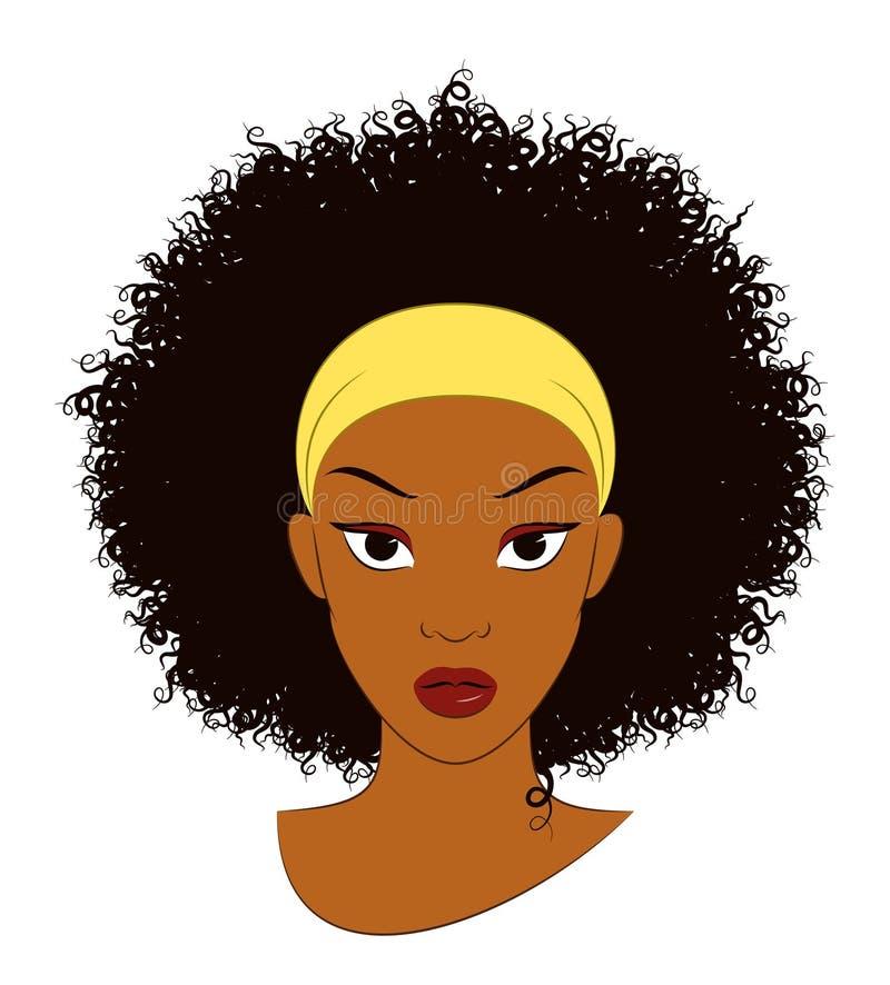 Menina do Afro ilustração do vetor