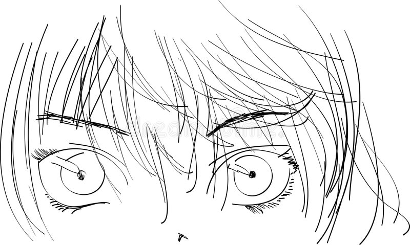 Menina do Anime ilustração do vetor