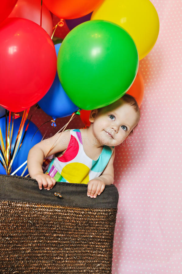 Menina do aniversário foto de stock royalty free