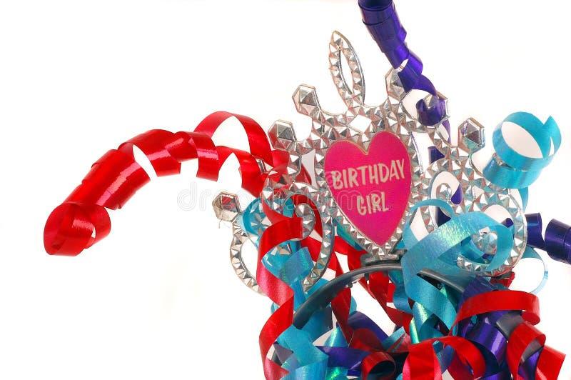 Menina do aniversário fotografia de stock royalty free
