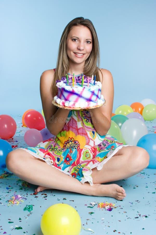 Menina do aniversário imagem de stock royalty free