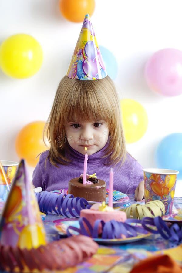 Menina do aniversário imagens de stock royalty free