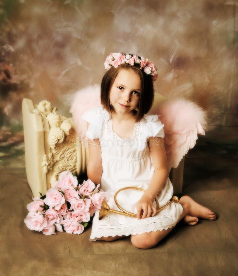 Menina do anjo foto de stock royalty free