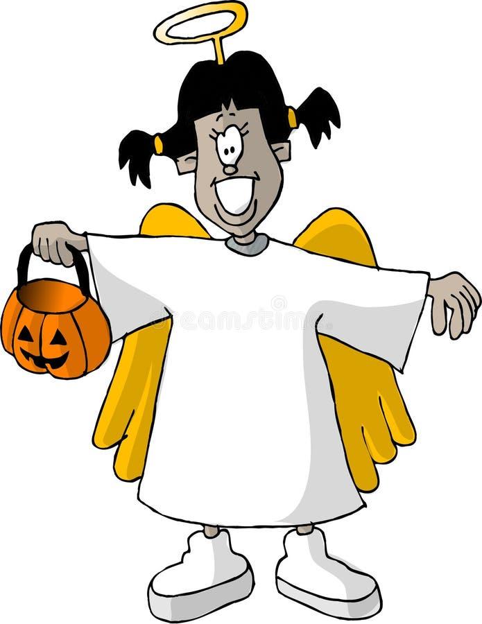 Menina do anjo ilustração stock
