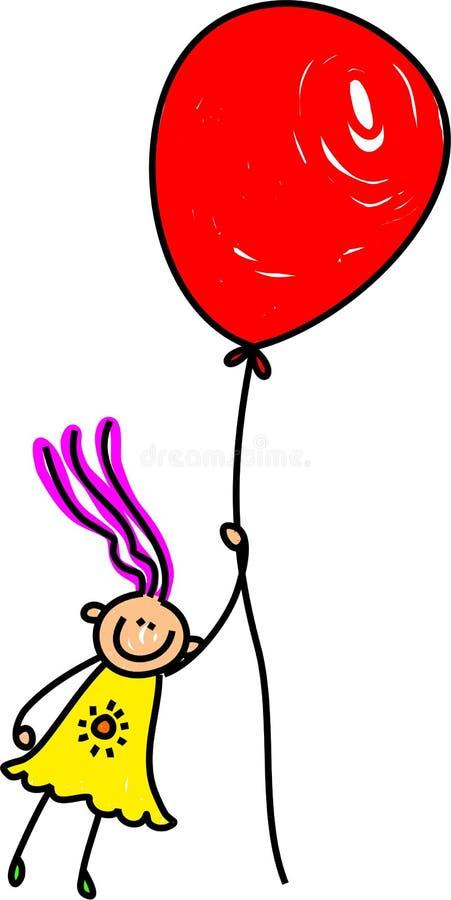 Menina do balão ilustração do vetor