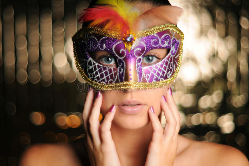 Menina do carnaval fotografia de stock
