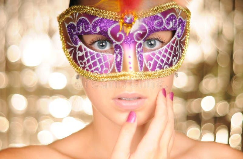 Menina do carnaval fotos de stock royalty free