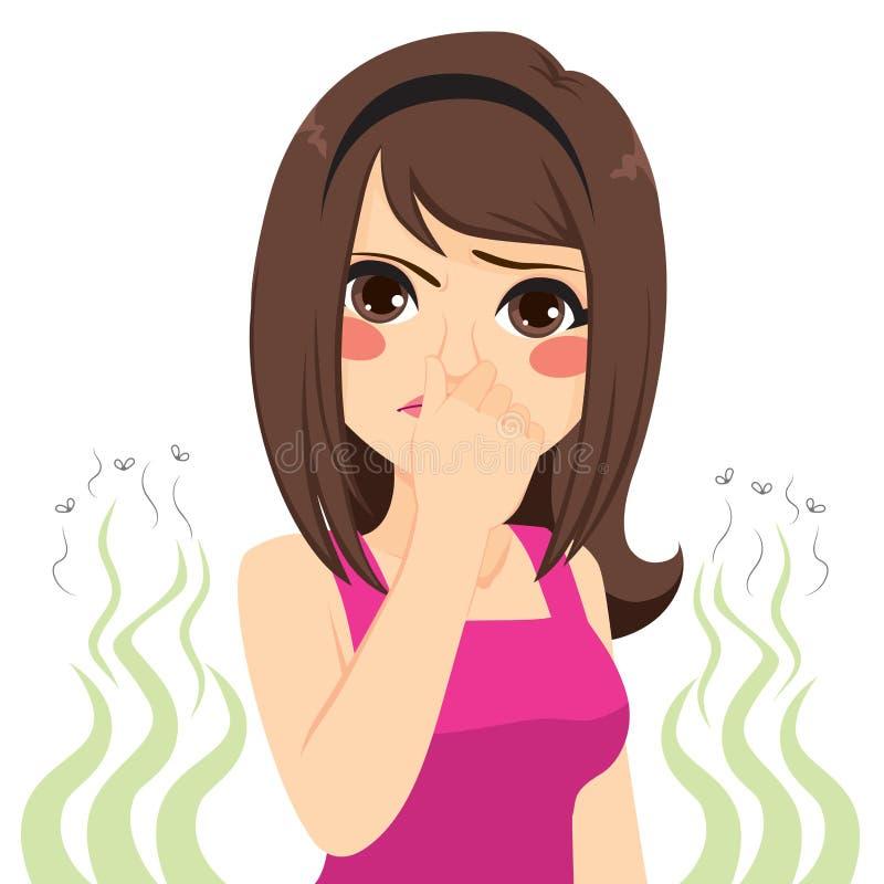 Menina do cheiro mau ilustração royalty free