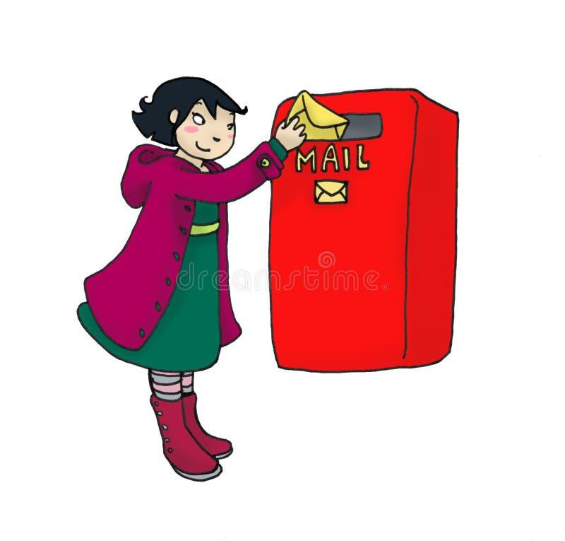 Menina do correio ilustração royalty free