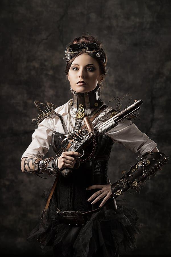 Menina do Cyborg fotografia de stock