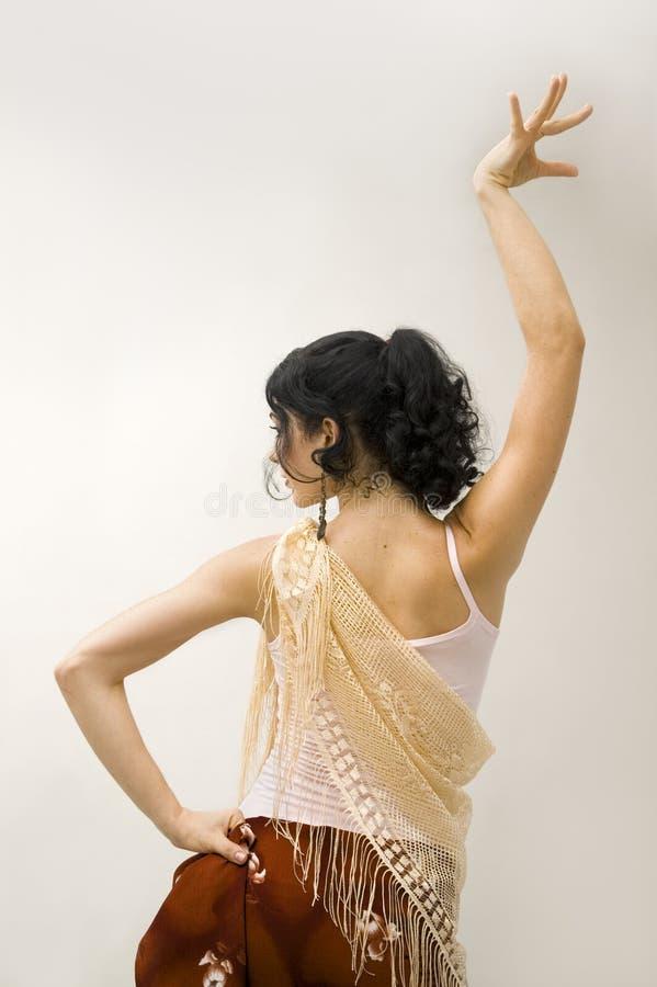 Menina do dançarino do Flamenco foto de stock royalty free