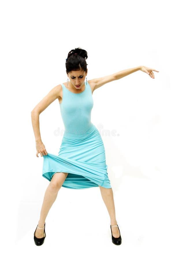 Menina do dançarino isolada fotografia de stock