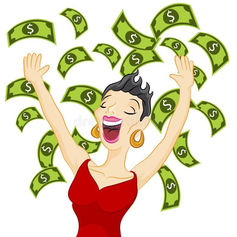 Menina do dinheiro ilustração do vetor