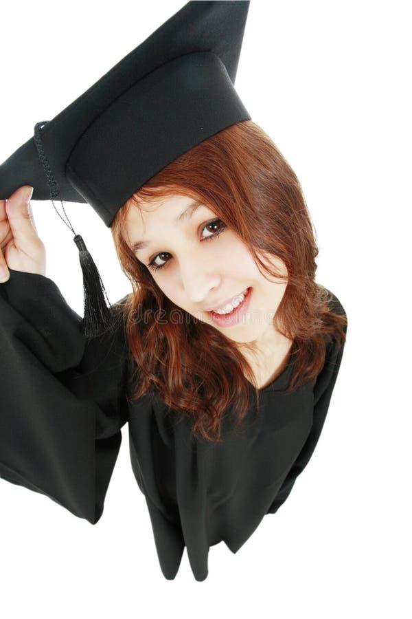Menina do diploma imagem de stock