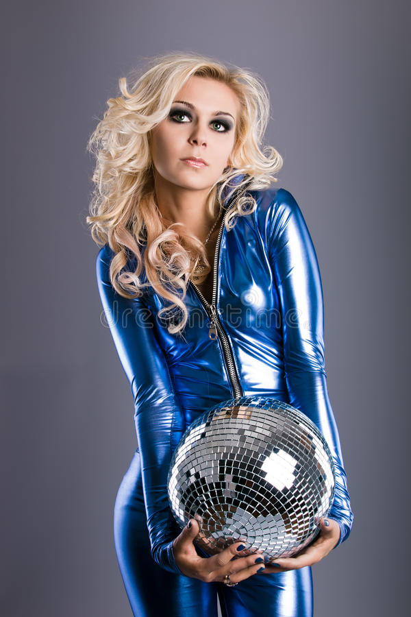 Menina do disco fotografia de stock royalty free