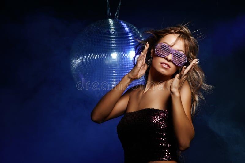 Menina do disco fotografia de stock