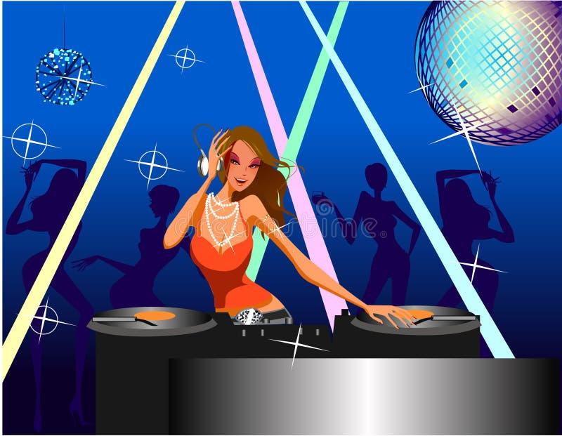 Menina do disco ilustração stock