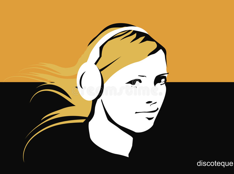 Menina do DJ ilustração do vetor
