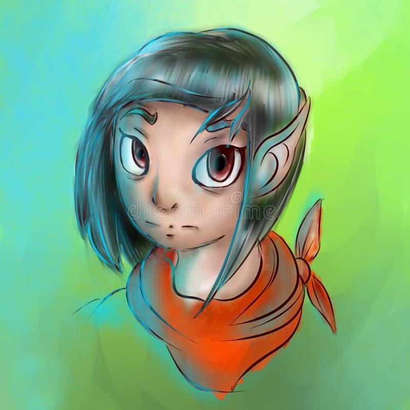 Menina do duende ilustração stock
