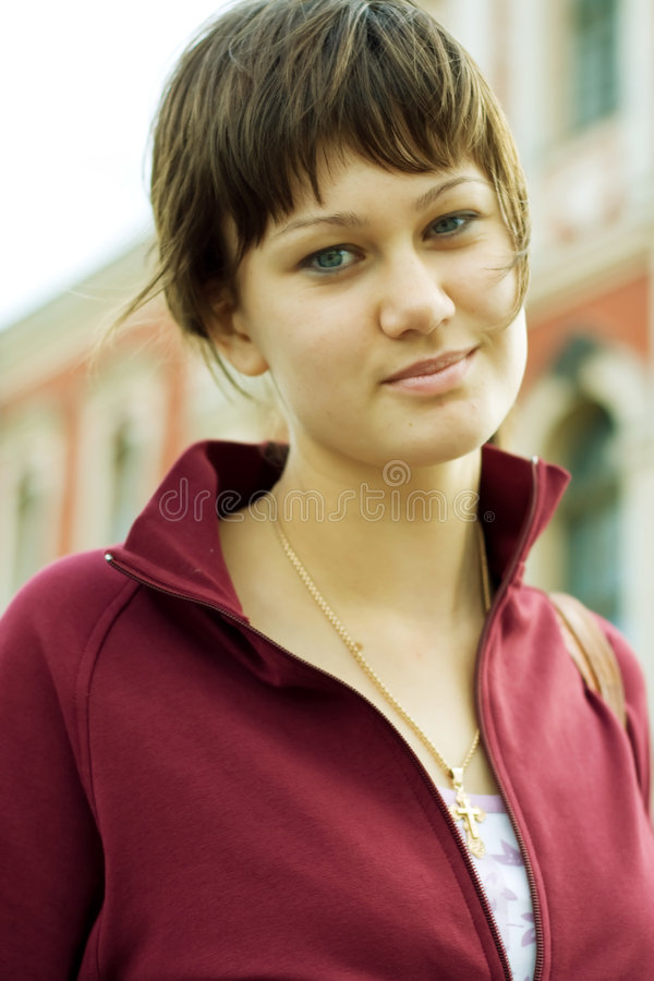 Menina do estudante fotografia de stock royalty free