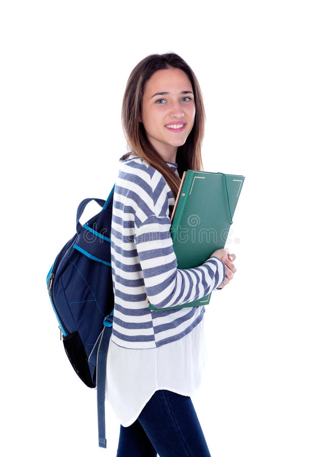Menina do estudante do adolescente foto de stock