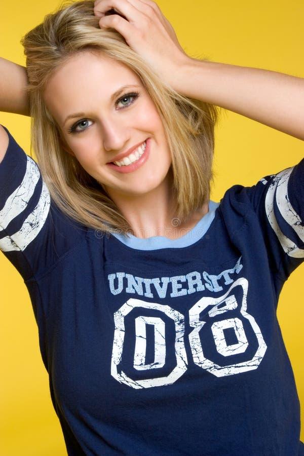 Menina do estudante universitário imagem de stock