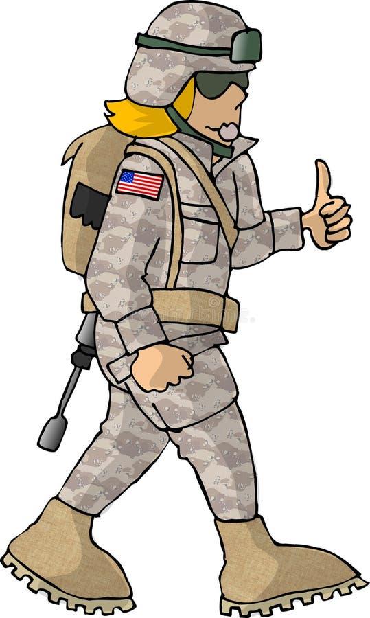 Menina do exército dos EUA ilustração stock