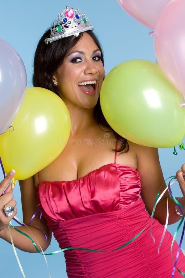 Menina do feliz aniversario fotos de stock