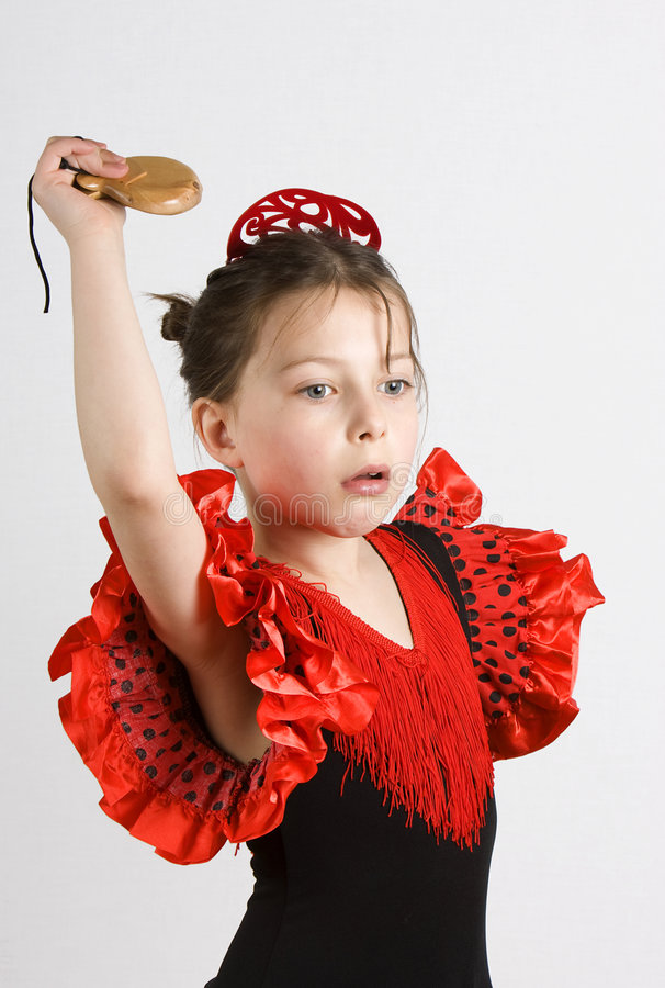 Menina do Flamenco fotos de stock royalty free