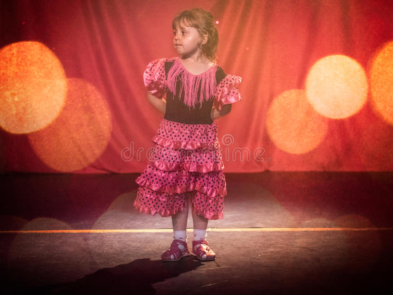 Menina do flamenco foto de stock royalty free