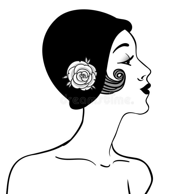 Menina do Flapper ilustração stock
