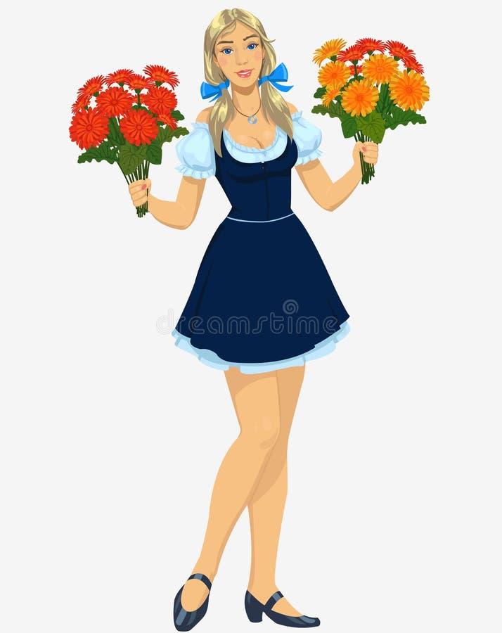 Menina do florista ilustração do vetor