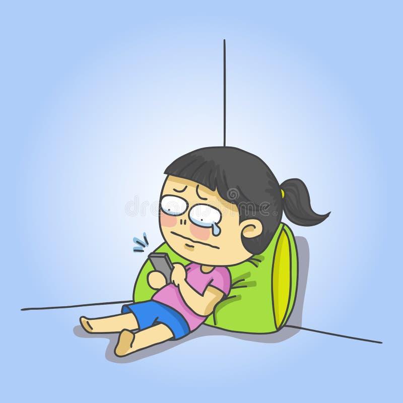 Menina do grito ilustração do vetor