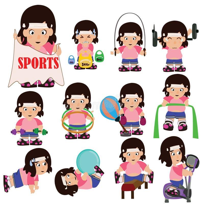 Menina do Gym ilustração royalty free