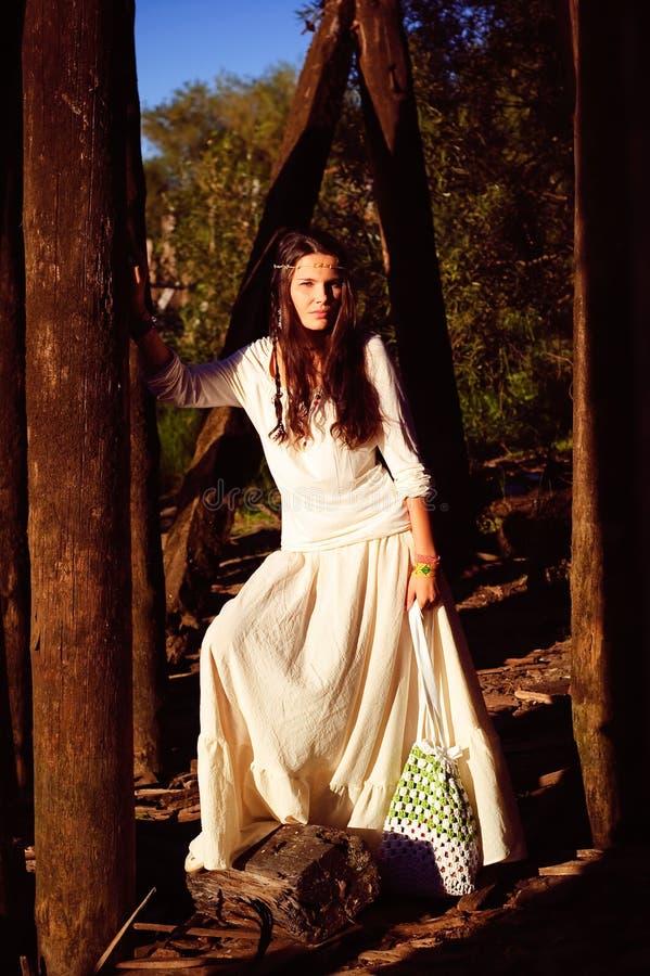 Menina do Hippie imagem de stock