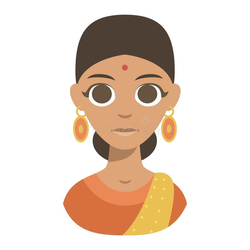 Download Menina Do Indiano Da Ilustração Do Vetor Ilustração do Vetor - Ilustração de cheerful, sorriso: 80100963