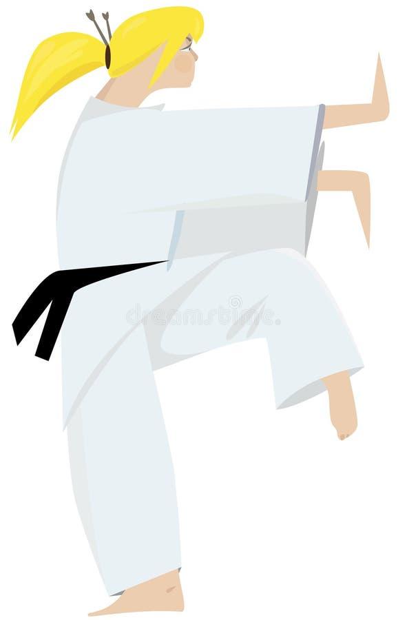 Menina do judo ilustração do vetor