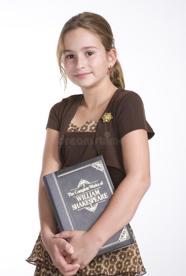 Menina do leitor ávido fotografia de stock