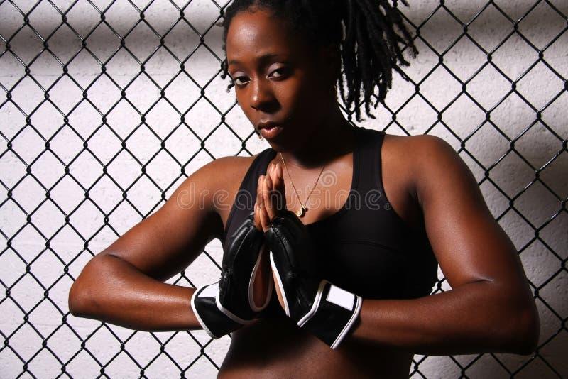 Menina do lutador foto de stock