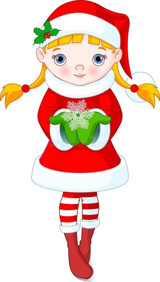 Menina do Natal ilustração royalty free