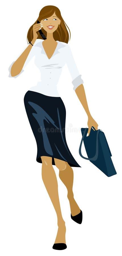 Menina do negócio ilustração stock