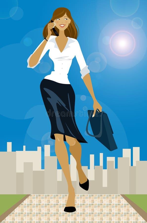 Menina do negócio ilustração royalty free