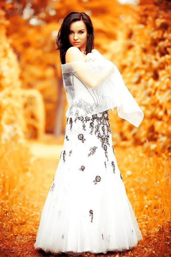 Menina do outono fotos de stock