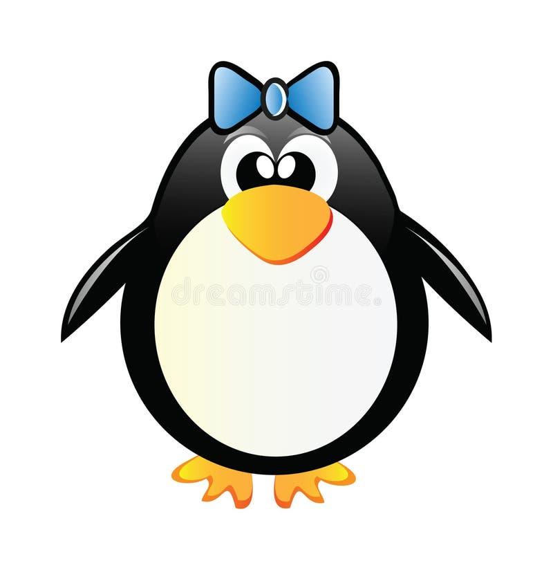 Menina do pinguim ilustração royalty free
