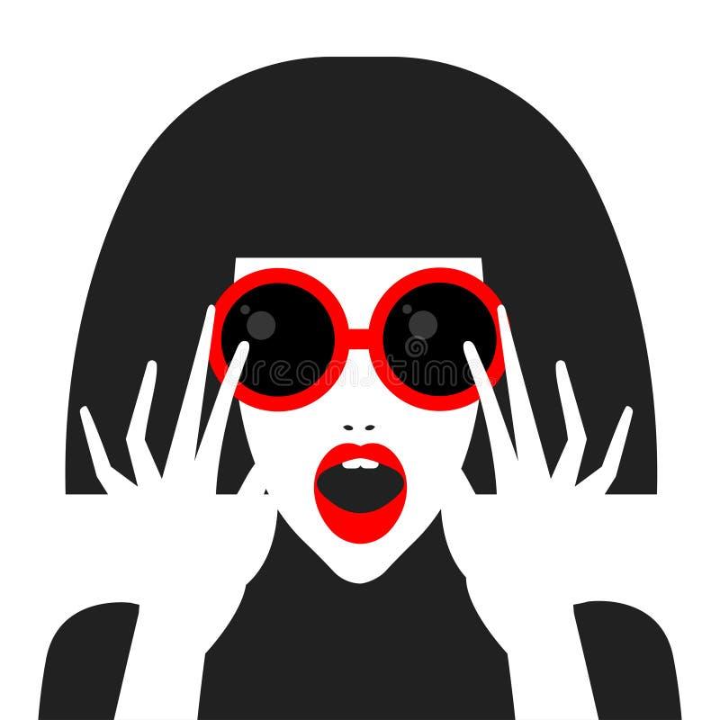 Menina do pop art ilustração do vetor