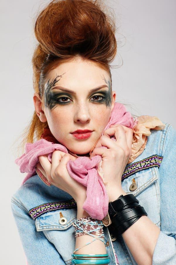 Menina do punk de Glam imagem de stock