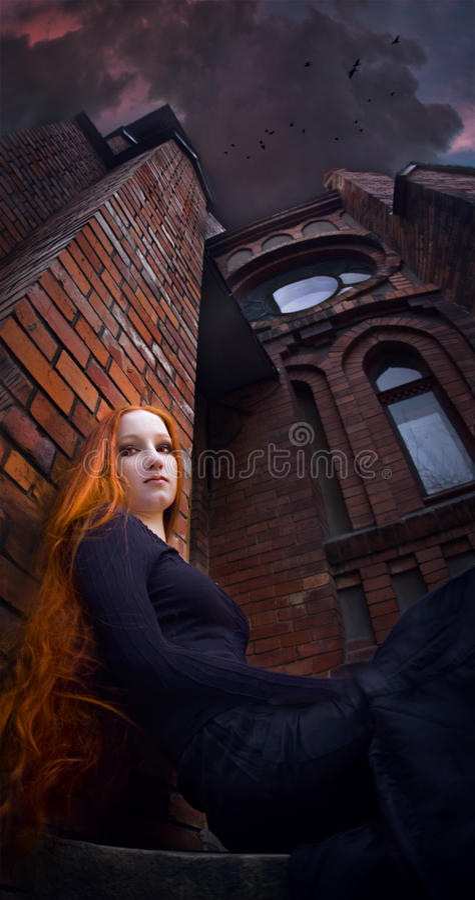Menina do Redhead foto de stock