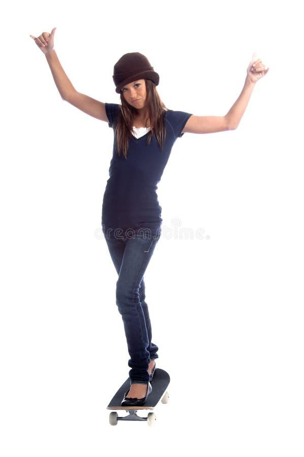 Menina do skater foto de stock