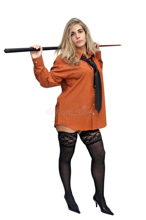 Menina do Snooker imagem de stock royalty free