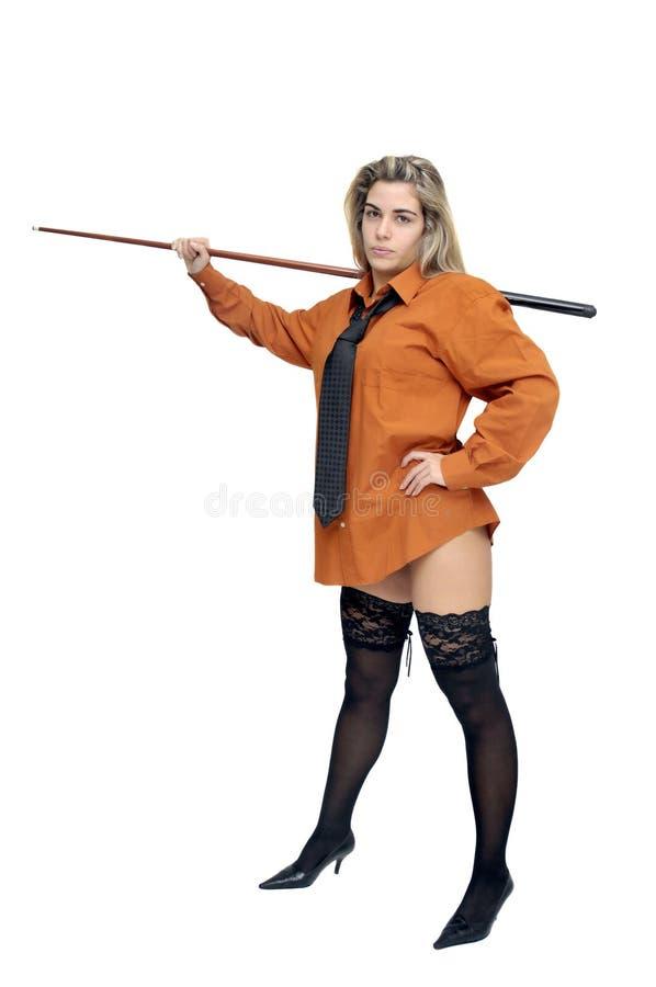 Menina do Snooker imagem de stock